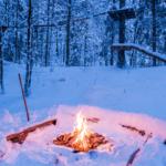 Oheň na sněhu